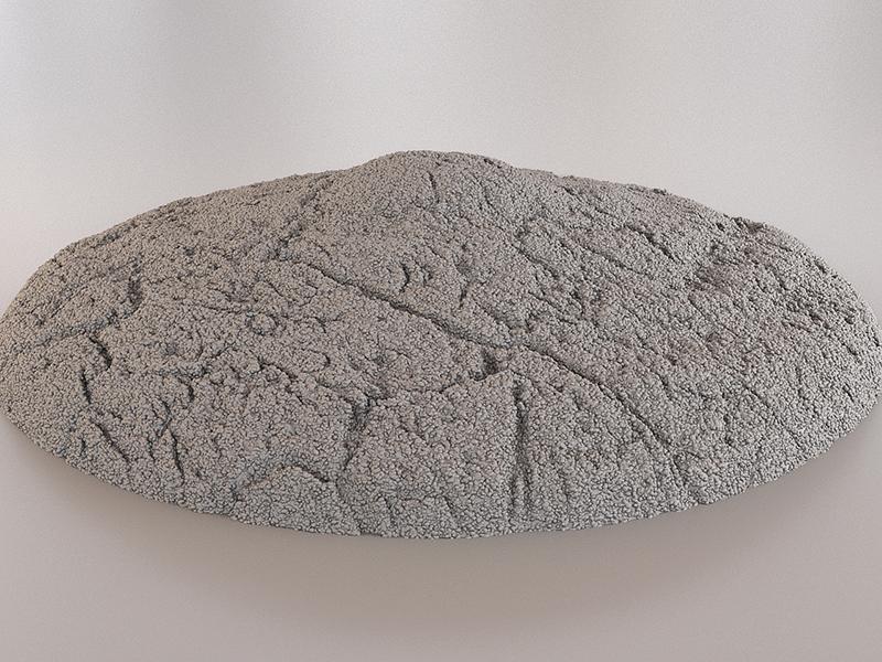 известняк в бетоне